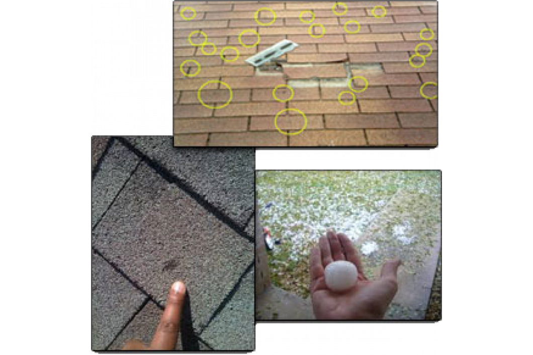Roof Damage from Hail or Wind In Charleston & Mt. Pleasant, SC